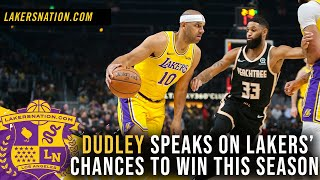 Jared Dudley Speaks Out On Lakers Chances To Win This Season by Lakers Nation