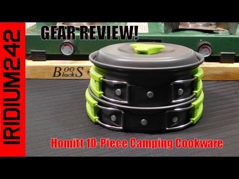 Homitt 10 Piece Camping Cookware Set Review!