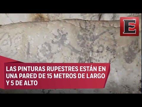 """México: Hallan cueva """"más importante"""" de pinturas rupestres (VÍDEO)"""