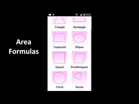 Video of Area Formulas
