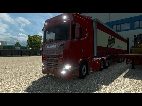 Scania S Series Minor bugs fixed + number plate