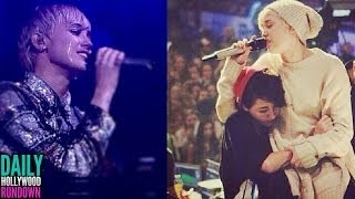 Who's SHADING on Ariana Grande & Justin Bieber? Miley Cyrus Tearful Performance - VIDEO!  (DHR)