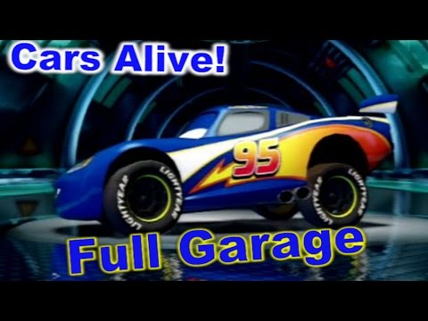 Cars 2: The video game Full Garage - All DLC Cars and All unlocked Cars.