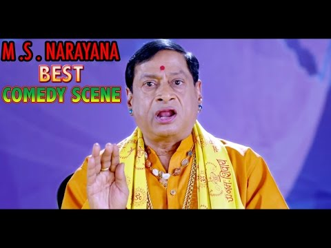 M.S.Narayana Comedy Scene Hindi Best Comedy HD Video Movie First Love