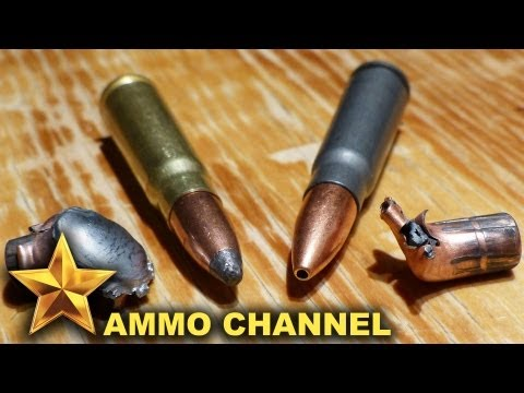 7.62x39 Water Expansion Test: Soft Point vs. Hollow Point - Golden Bear & Brown Bear, AK 47 SKS ammo