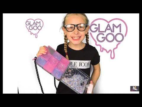 GLAM GOO DELUXE PACK! Slime Organizing Purse! Make Accessories with SLIME ! SLIME RING!