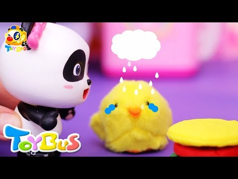 Super Panda Rescue Team, Cooking Pretend Play  Play Doh for Kids  Kids Toy  Kids Cartoon  ToyBus