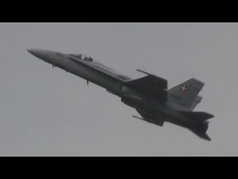 Demonstration of the F/A-18 Hornet...