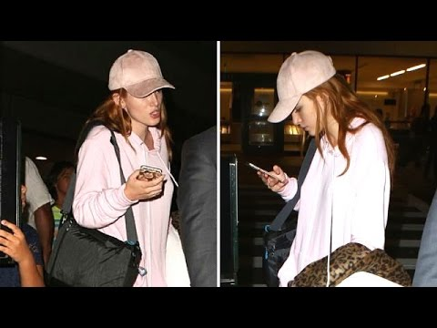 Natural Beauty Bella Thorne Pretty In Pink Wearing No Make Up At LAX