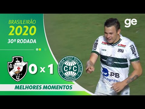 VASCO 0 X 1 CORITIBA | MELHORES MOMENTOS | 30ª RODADA BRASILEIRÃO 2020 | ge.globo