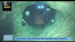 Video Ragazzi nella grotta in Thailandia: come avvengono i soccorsi - La vita in diretta estate 09/07/2018 MP3, 3GP, MP4, WEBM, AVI, FLV Juli 2018