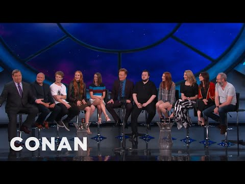 Herci ze seriálu Hra o trůny u Conana O'Briena