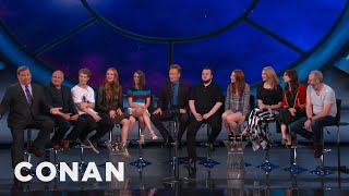 Maisie Williams has a surefire way to insure that her character stays alive: bribery. More CONAN @ http://teamcoco.com/video ...