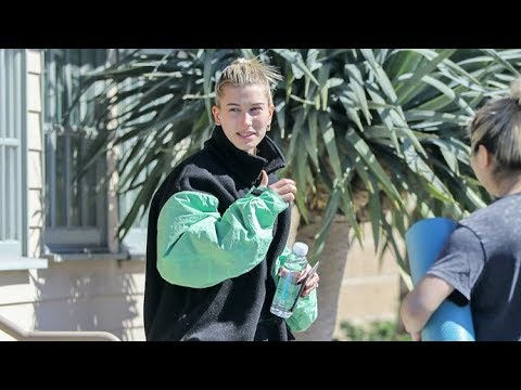 Hailey Baldwin Wears Green St. Patrick's Day While Taking A Yoga Break From Justin EXCLUSIVE