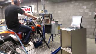 10. VHM testing KTM SX85 on dyno at own test facility