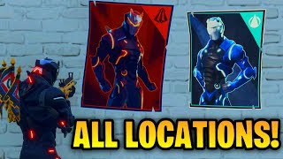 ''Spray over different Carbide and/or Omega posters'' ALL LOCATIONS! [Fortnite: Week 6 Challenges]