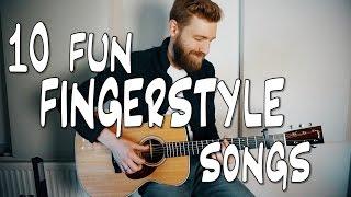 10 fun FINGERSTYLE guitar songs