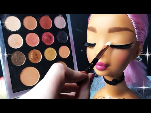 ASMR Makeup On Doll Head (Whispered) #4