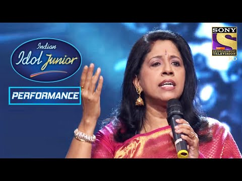 Kavita Krishnamurthy's Grand Performance On 'Tu Pyar Ka Sagar Hai' | Indian Idol Junior