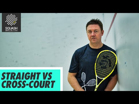 Squash tips: Length hitting tactics with Shaun Moxham - Straight vs cross-court