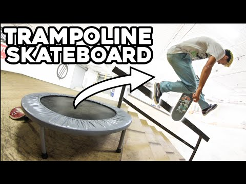 TRAMPOLINE AT THE SKATEPARK!