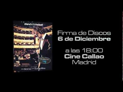 """DAVID BISBAL """"Una Noche en el Teatro Real"""" FIRMA DE DISCOS"""