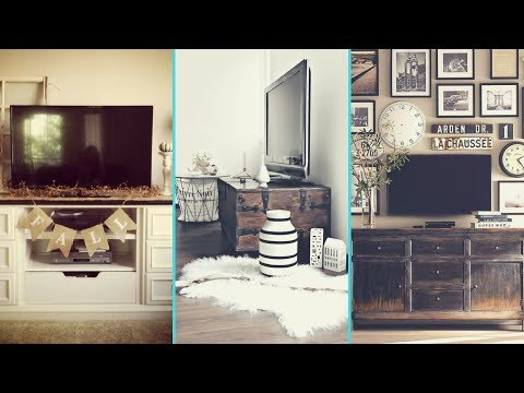 ❤DIY Rustic Shabby Chic Style TV Stand / Wall decor Ideas ❤| Home decor Ideas| Flamingo Mango