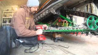 10. Snowmobile Ice Scratcher Install on an Arctic Cat MSeries - OSP
