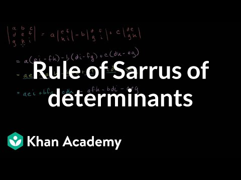 Linear Algebra: Rule of Sarrus of Determinants
