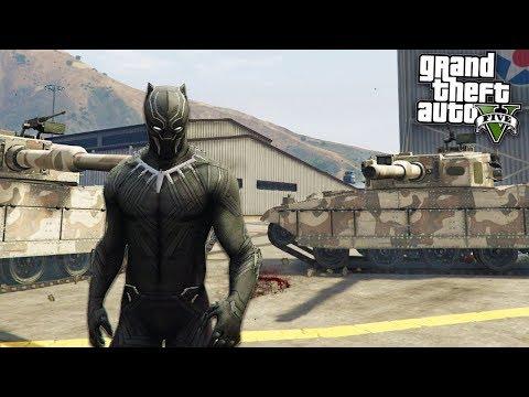 BLACK PANTHER ULTIMATE MOD - GTA 5 Mods (видео)