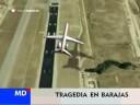 Simulación accidente avión en Barajas