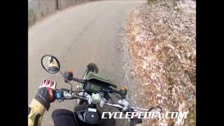 9. Kawasaki KL250 Super Sherpa Winter Ride