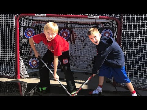 Kids HocKey Butcher Boot Camp Doing Hockey drills with our Better Hockey Gear