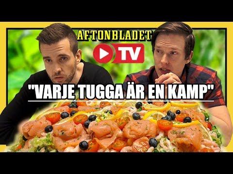 Äter en STOR Smörgåstårta live hos Aftonbladet TV