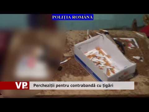 Percheziții pentru contrabandă cu țigări