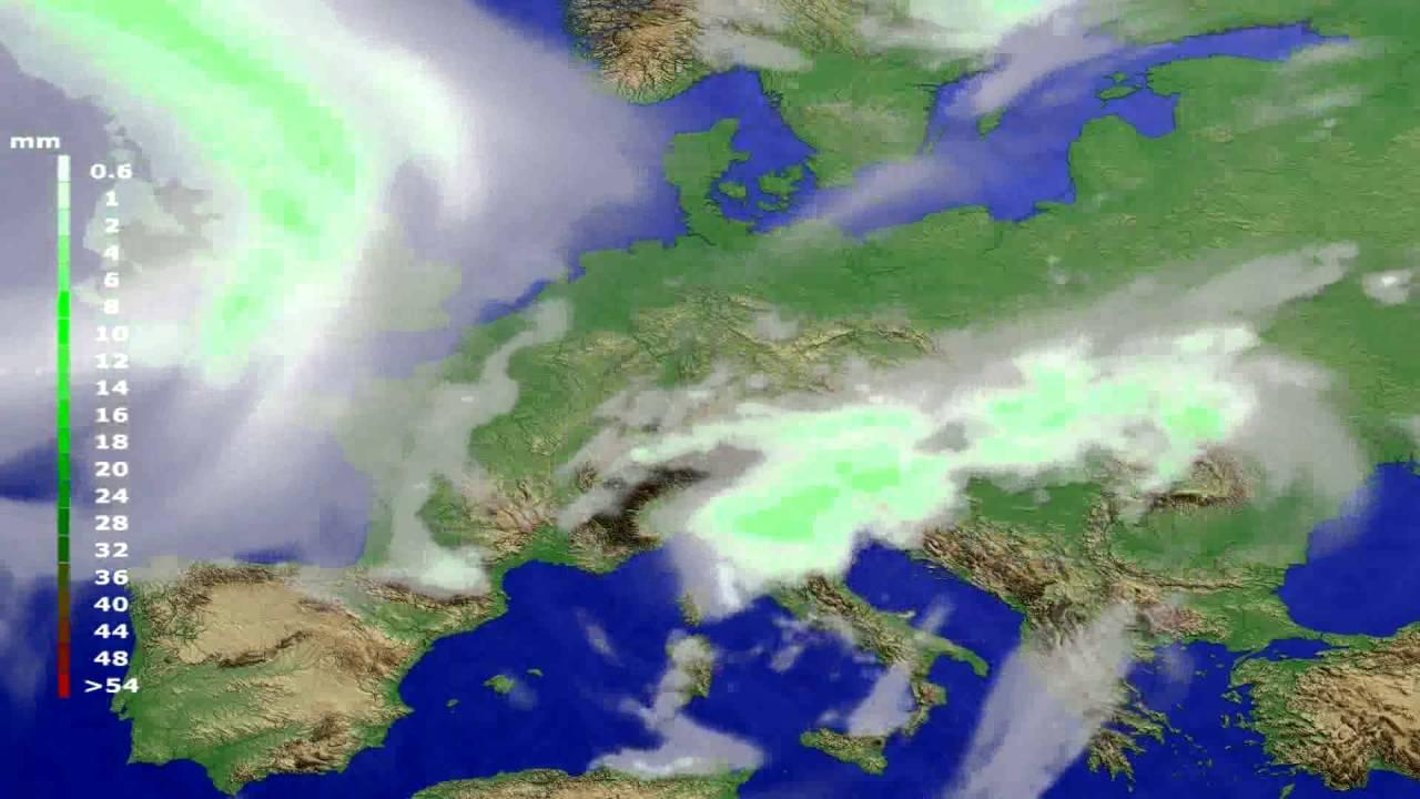 Precipitation forecast Europe 2016-06-17