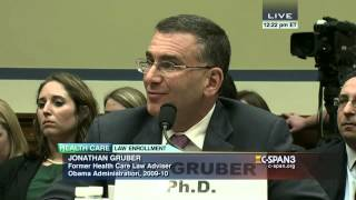 Rep. Trey Gowdy questions Jonathan Gruber (C-SPAN)