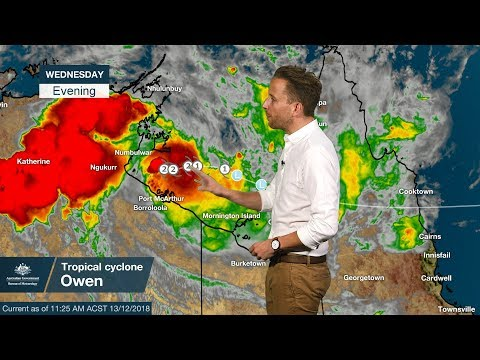 WEATHER UPDATE: Severe Tropical Cyclone Owen in the Gulf of Carpentaria, 13 Dec. 2018