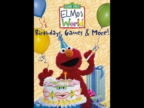 Opening To Elmo's World Birthdays Games And More 2001 DVD