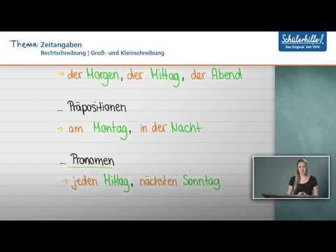Groß- & Kleinschreibung // Rechtschreibung // Deutsch // Schülerhilfe Lernvideo (видео)