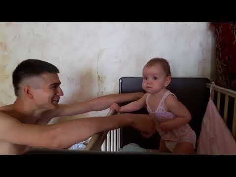 Ребёнок испугался папу - DomaVideo.Ru