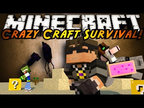 craft - In this episode of Crazy Craft we start building our neighborhood, get attacked by water dragons and...IS THAT A GIANT FREAKING SQUID?! In this episode of Cr...