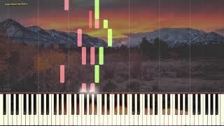 Листья жёлтые (вариация) (Ноты и Видеоурок для фортепиано) (piano cover)