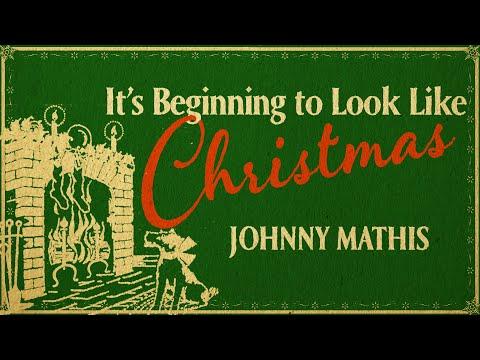 Johnny Mathis - It's Beginning to Look Like Christmas (Christmas Songs - Yule Log)