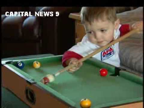 This 2 Year Old Kid Could School You In Pool.