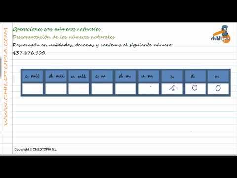 Vídeos Educativos.,Vídeos:Descomponer unidades, decenas, 5
