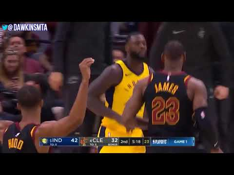 LeBron James Triple Double ECR1 Game 1 Cleveland Cavaliers vs Pacers 24 12 10!   FreeDawki