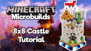 Minecraft Microbuilds: 8x8 Castle! [Build Tutorial]