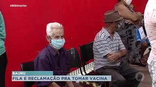 Vacinação para idosos acima de 77 anos começou hoje em Bauru