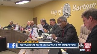 Bartow United States  city photo : bartow mayor says god bless america signs are OK